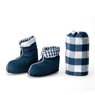 Down boots Blue