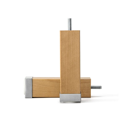 Four-Edge Legs with Aluminium Stained Beech