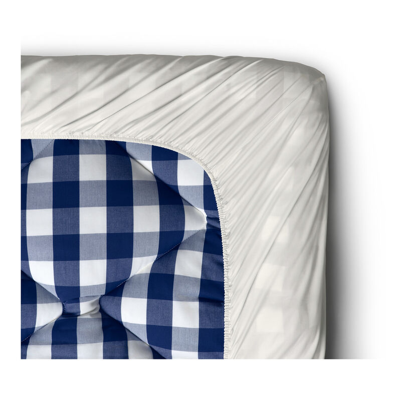 Pure White Fitted Sheet, 30 cm image number 0