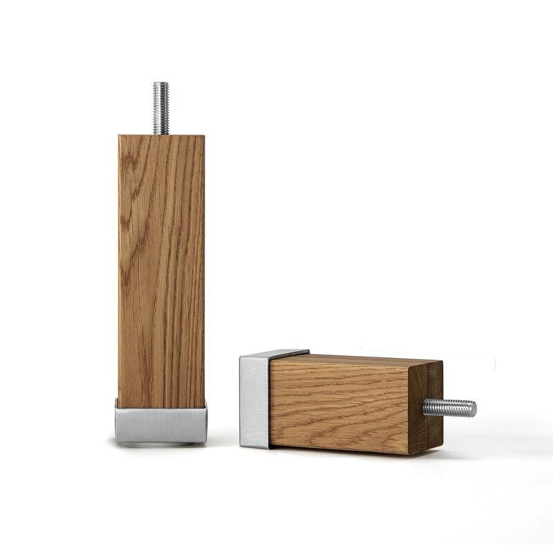 Pieds carrés en chêne huilé avec aluminium image number 0